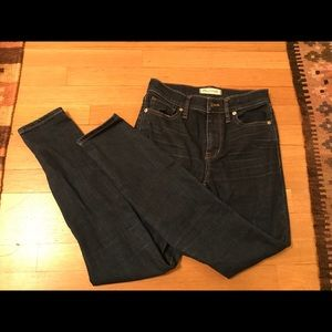 Madewell Dark Wash High Riser Skinny